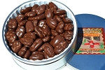 32 oz Chocoloate Covered Pecan Halves Tin