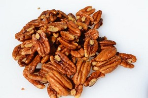 4 ounces of roasted butter and salted pecans
