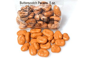 8 ounces of Butterscotch Covered Pecans